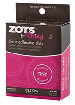 "Zots For Bling - 325 count (1/8"" x appx 1/64"" thick)"