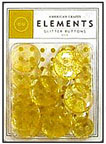 American Crafts Elements Buttons - glitter gold