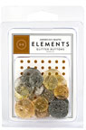 American Crafts Elements Buttons - glitter Metallics