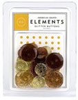 American Crafts Elements Buttons - glitter Neutral