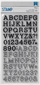 American Crafts Alphabet Stamps - Roxie