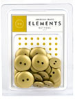 American Crafts Elements Buttons - solid gold