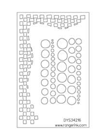 Dylusions Stencils - Chequered Dots