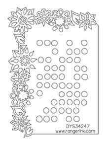 Dylusions Stencils - Dotted Flowers