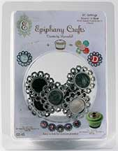 Epiphany Crafts - Metal Charm Fancy Round 14 (use with bubble cap round 14)