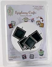 Epiphany Crafts - Metal Charm Square 25 (use with bubble cap square 25)