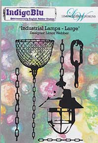 Indigo Blu by Limor Webber - Large Industrial Lights