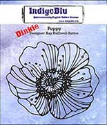 "IndigoBlu Cling Mounted Stamp 3"" x 3"" - Dinkie Poppy"