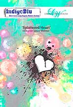 Indigo Blu by Limor Webber - Dinkie (SMALL version) Splatterd Heart
