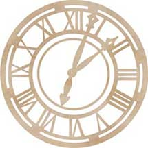 Kaisercraft Wooden Flourishes - Clock