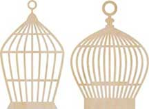 Kaisercraft Wooden Flourishes - Small Bird Cage
