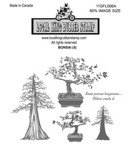 Local King Rubber Stamp - Bonsai