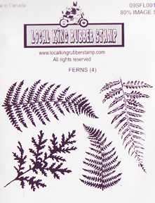 Local King Rubber Stamp - Ferns
