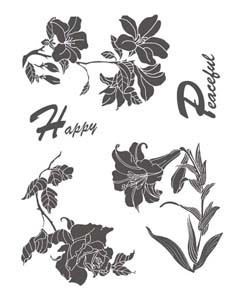Local King Rubber Stamp - Shadow Flower 2
