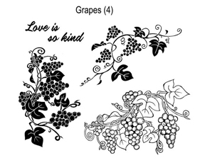 Local King Rubber Stamp - grapes