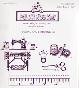 Local King Rubber Stamp - Sewing & Stitching