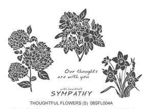 Local King Rubber Stamp - Thoughtful Flowers