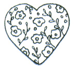Itty Bitty Chintz Heart
