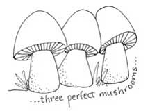 Three Perfect Mushrooms