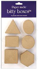 Craft Peddlar - Paper Mache Bitty Boxes (assortment of 6)