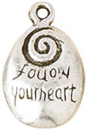 "Follow Your Heart 1/2"" Charms 5/Pkg"