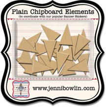 Jenny Bowlin Chipboard Elements - Banners