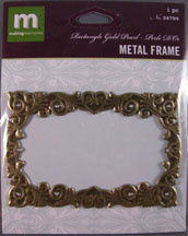 K&Company - gold Rectangle frame with Pearls - 34794