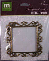 K&Company - Square flourished Frame with Pearls -34795