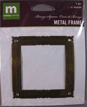 K&Company - Square Metal Frame with tiny rhinestones - 34329