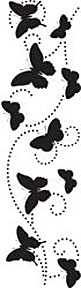 Clearsnap Double-Sided Adhesive Stickers - Butterfly Swirl