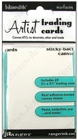 Ranger Inkssentials� Surfaces Sticky Back Artist Trading Cards White - Canvas