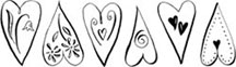 Clearsnap Double Sided Adhesives Stickers - Dancing Hearts