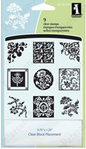 Inkadinkado� Clear Stamp Ichies Floral Ornaments