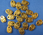 Blue Moon Charms - gold Heart 20 pc