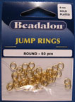 Beadalon - 50 piece gold jump rings