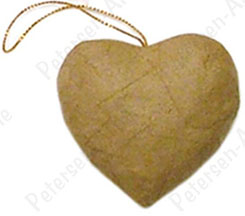 Craft Pedlars Paper Mache Ornament Puffy Heart Kraft