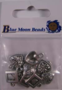 Blue Moon Charms - Small Hearts 12 pc