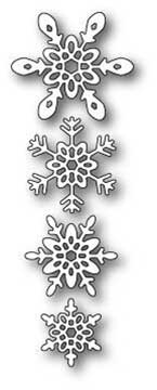 Poppy Stamps Winter 2016 Die - Ava Snowflakes