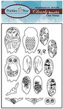 Prickley Pear Acrylic Stamps - Build an Owl Set
