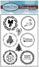 Prickley Pear Acrylic Stamps - Circle Set Winter