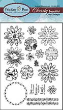 Prickley Pear Acrylic Stamps - Beautiful Flower Set