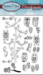 Prickley Pear Acrylic Stamps - Mini Owl Set