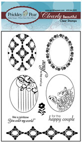 Prickley Pear Acrylic Stamps - Scalloped Oval Set