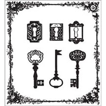 Prima Clear Acrylic Stamps - Framed Keys
