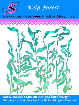 Kelp Forest Background Stamp