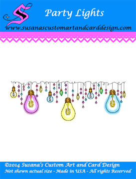 Party Lights Border