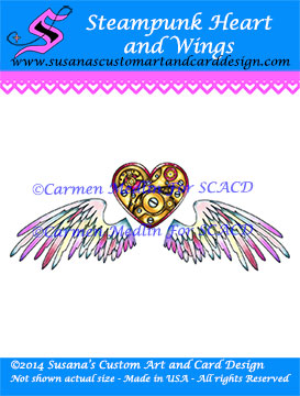 Steampunk Heart and Wings