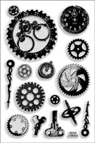 Stampendous - Steampunk Gears Acylic Gears Stamp Set