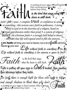 Local King Rubber Stamp - Faith